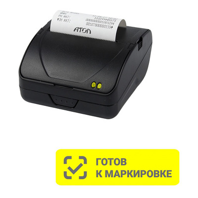 Онлайн-касса АТОЛ 15Ф Мобильный ФН 1.1 15 мес USB WiFi BT АКБ