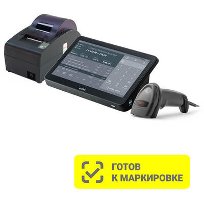 POS-система АТОЛ Mark Optima (АТОЛ 50Ф без ФН, POS-терминал,  Windows 10 IoT, Frontol 6, сканер 2D Impulse 12)