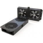 Модуль вентиляторный потолочный Hyperline с 2-мя вентиляторами для установки в шкафы серий TTC2, TTB и TWB, с подшипниками и крепежными элементами, без кабеля питания, цвет черный (RAL 9004SN)