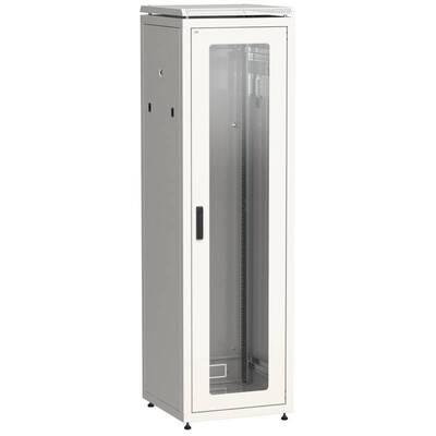 Шкаф сетевой напольный ITK LINEA N 42U 600х600 мм теклянная передняя дверь, задняя металлическая серый