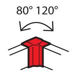Внутренний изменяемый угол Legrand от 80° до 120° - для кабель-каналов Metra 130x50