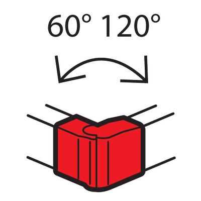 Внешний изменяемый угол Legrand от 60° до 120° для кабель-каналов Metra 130x50