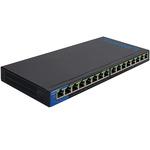 Коммуникатор Linksys 16-портовый, Gigabit, PoE (LGS116P-eu)