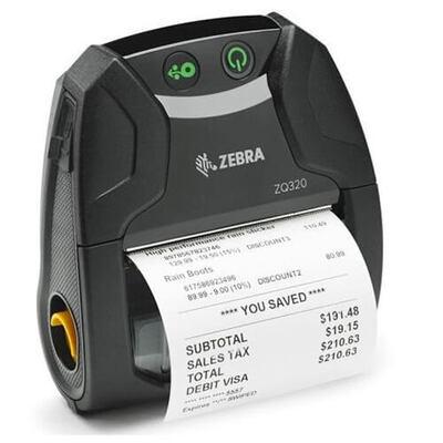 Мобильный принтер этикеток Zebra ZQ320 (Wi-Fi/BT, Linered, Label Sensor, Indoor)