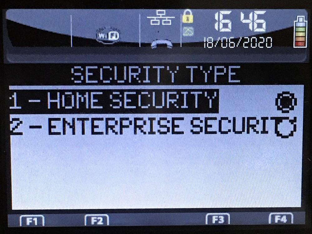Настройки безопасности Wi-Fi Ingenico iWL250 (258)