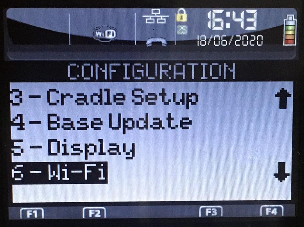 Конфигурация Wi-Fi Ingenico iWL 250 (258)