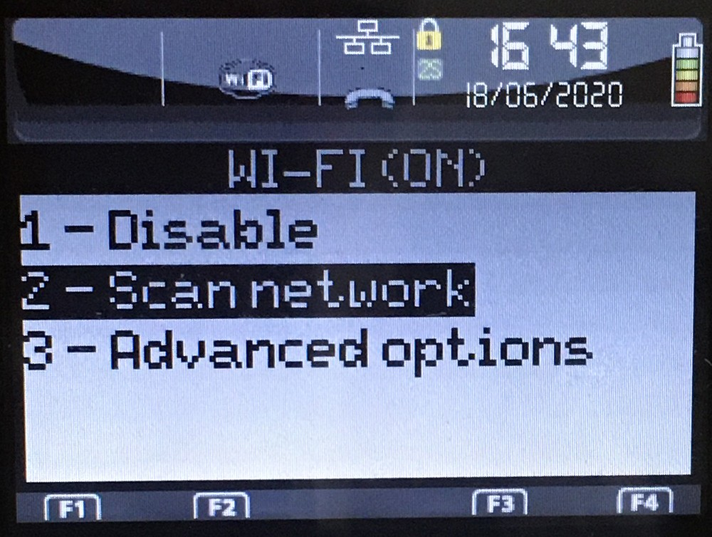 Сканирование Wi-Fi сетей Ingenico iWL250 (258)